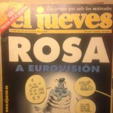 Collectionnisme de Magazine El Jueves: EL JUEVES NUMERO 1304 - 22 AL 28 MAYO 2002 - ROSA A EUROVISION. Lote 201499153