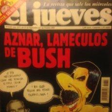 Collectionnisme de Magazine El Jueves: EL JUEVES NUMERO 1322 - 25 SEPTIEMBRE AL 1 OCTUBRE 2002 - AZNAR, LAMECULOS DE BUSH. Lote 201499202