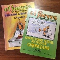 Coleccionismo de Revista El Jueves: EL JUEVES SUPLEMENTO MENSUAL CONSULTORIO SEXUAL DEL PROFESOR COJONCIANO ,POR OSCAR 1 Y 2 PARTES 1979. Lote 204799741