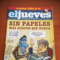 Coleccionismo de Revista El Jueves: REVISTA EL JUEVES Nº 1705 ENERO 2010 SIN PAPELES MÁS JODIDOS QUE NUNCA. Lote 205392596