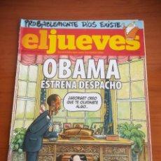 Coleccionismo de Revista El Jueves: REVISTA EL JUEVES Nº 1652 ENERO 2009 OBAMA ESTRENA DESPACHO. Lote 205394185