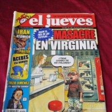 Coleccionismo de Revista El Jueves: EL JUEVES. N° 1561 MAYO 2007. Lote 206367063
