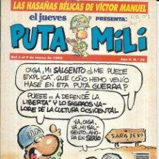 Coleccionismo de Revista El Jueves: * CO49 - REVISTA - EL JUEVES - PUTA MILI. Lote 206800141