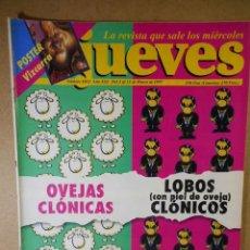 Coleccionismo de Revista El Jueves: EL JUEVES Nº 1032 : OVEJAS CLÓNICAS LOBOS ( CON PIEL DE OVEJA ) CLÓNICOS. Lote 207034126