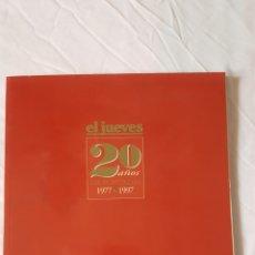 Coleccionismo de Revista El Jueves: EL JUEVES 20 AÑOS 1977-1999 . PORTADAS ESPECIAL COLECCIONISTAS. Lote 207068735