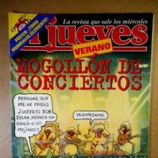 Coleccionismo de Revista El Jueves: EL JUEVES Nº 1102 : VERANO MOGOLLÓN DE CONCIERTOS. Lote 207097587