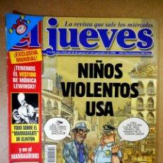 Coleccionismo de Revista El Jueves: EL JUEVES Nº 1109 : NIÑOS VIOLENTOS USA. Lote 207098993