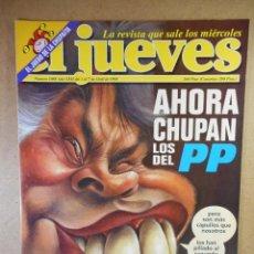 Coleccionismo de Revista El Jueves: EL JUEVES Nº 1088 : AHORA CHUPAN LOS DEL PP. Lote 207163432