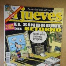 Coleccionismo de Revista El Jueves: EL JUEVES Nº 1214 : SE ACABÓ EL VERANO EL SÍNDROME DEL RETORNO. Lote 207170543
