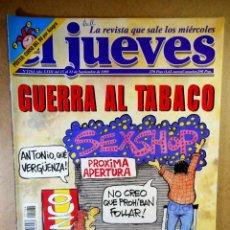 Collectionnisme de Magazine El Jueves: EL JUEVES Nº 1164 : GUERRA AL TABACO. Lote 207523600