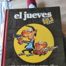 Coleccionismo de Revista El Jueves: LIBRO DE EL JUEVES, LUXURY GOLD COLLECTION, MAKINAVAJA GOLDEN YEARS. Lote 209244175