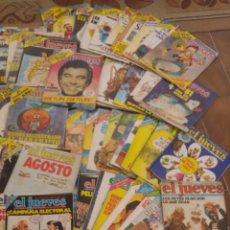 Coleccionismo de Revista El Jueves: GRAN LOTE DE 74 REVISTAS EL JUEVES FINALES DE LOS 70 PRICIPIOS DE LOS 80. Lote 210571135
