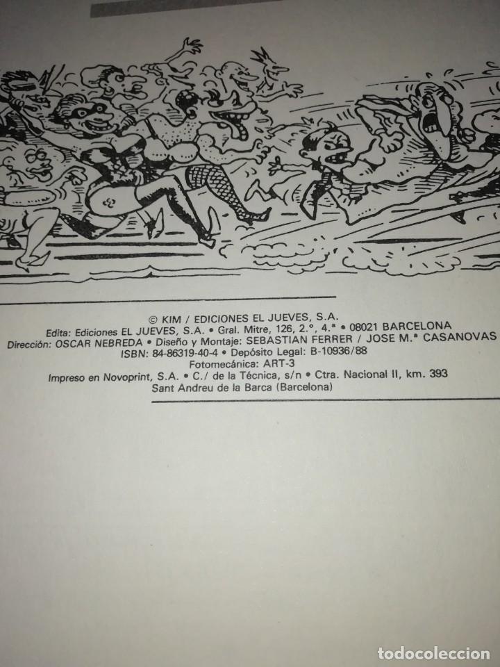 Coleccionismo de Revista El Jueves: MARTINEZ EL FACHA. KIM. IMPASIBLE EL ADEMAN. EL JUEVES 1988. RARO. - Foto 3 - 210586411