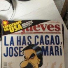 Coleccionismo de Revista El Jueves: LA HAS CAGADO JOSÉ MARI (AZNAR) (SETIEMBRE 2001). Lote 210734815