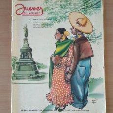 Coleccionismo de Revista El Jueves: JUEVES DE EXCELSIOR REVISTA NÚMERO 1348 DEL 17 DE MARZO DE 1949. Lote 213789107