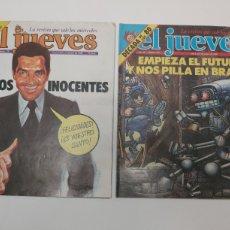 Coleccionismo de Revista El Jueves: EL JUEVES N° 136 Y 187. 1980. Lote 215428137