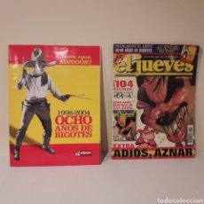 Coleccionismo de Revista El Jueves: EL JUEVES. 2004. ADIÓS AZNAR. REVISTA Y EXTRA.. Lote 216914446