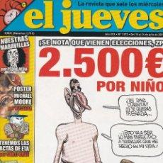 Coleccionismo de Revista El Jueves: REVISTA EL JUEVES EL MITICO NÚMERO 1.573 (2007) RETIRADO POR INJURIAS A LA CORONA. Lote 217193853