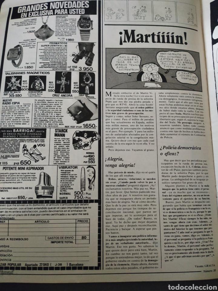 Coleccionismo de Revista El Jueves: El jueves, año II, número 38, 10 de febrero de 1978, buen estado - Foto 3 - 218110420