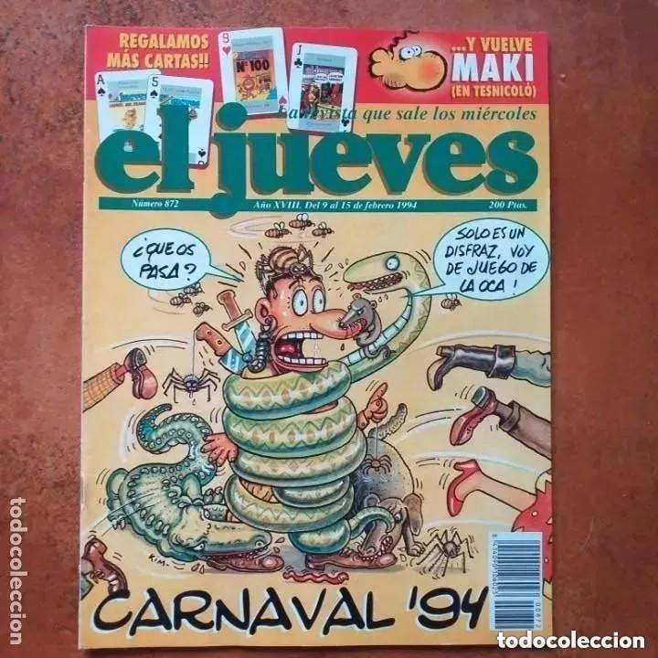 EL JUEVES NUM 872. CARNAVAL 94 (Coleccionismo - Revistas y Periódicos Modernos (a partir de 1.940) - Revista El Jueves)