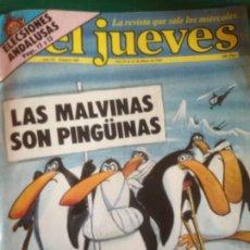 Collectionnisme de Magazine El Jueves: EL JUEVES 260 - 19 AL 25 MAYO 1982 - LAS MALVINAS SON PINGÜINAS - ELECSIONES ANDALUSAS. Lote 219115052