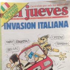 Collectionnisme de Magazine El Jueves: EL JUEVES 379 - 29 AGOS-4 SEPT 1984 - INVASION ITALIANA - IL CORRIERE DEL CAZZO. Lote 219115183