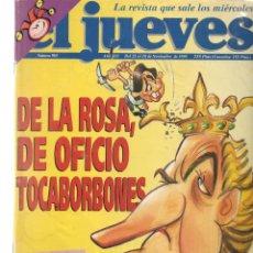 Coleccionismo de Revista El Jueves: EL JUEVES. Nº 965. DE LA ROSA, TOCABORBONES. CUADERNILLO CENTRAL: APOLO XIII. 22 NVBRE 1995. (P/B9). Lote 221388985