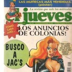 Coleccionismo de Revista El Jueves: EL JUEVES. Nº 969. LOS ANUNCIOS DE COLONIA. POSTER: LAS MUÑECAS MAS VENDIDAS. 20 DCBRE. 1995. (P/B9). Lote 221389460