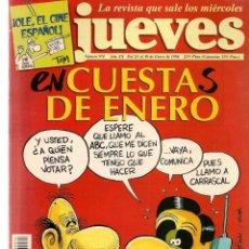 Coleccionismo de Revista El Jueves: EL JUEVES. Nº 974. ENCUESTAS DE ENERO. POSTER. 24 ENERO 1996. (P/B9). Lote 221390046