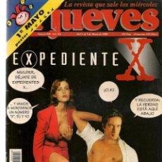 Coleccionismo de Revista El Jueves: EL JUEVES. Nº 988. EXPEDIENTE X. POSTER: AZAGRA. 1 MAYO 1996. (P/B9). Lote 221391368