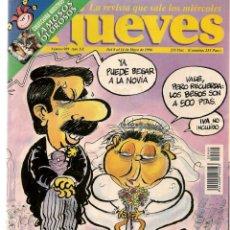 Coleccionismo de Revista El Jueves: EL JUEVES. Nº 989. LA BODA DEL AÑO. POSTER: ESTAMPAS PATRIAS. 14 MAYO 1996. (P/B9). Lote 221392182