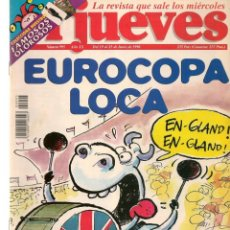 Coleccionismo de Revista El Jueves: EL JUEVES. Nº 995. EUROCOPA LOCA. POSTER: EXÁMENES DE JUNIO. 19 JUNIO 1996. (P/B9). Lote 221392430