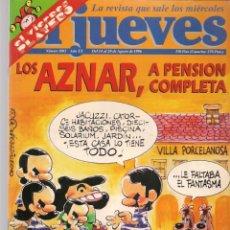 Coleccionismo de Revista El Jueves: EL JUEVES. Nº 1003. LOS AZNAR A PENSIÓN COMPLETA. POSTER: OZELUÍ. 14 AGOSTO 1996. (P/B9). Lote 221470498