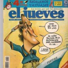 Coleccionismo de Revista El Jueves: EL JUEVES. Nº 1004. ÉSTE YATE ES UNA RUINA. POSTER: CENTRAL. 21 AGOSTO 1996. (P/B9). Lote 221470762