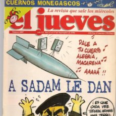 Coleccionismo de Revista El Jueves: EL JUEVES. Nº 1007. A SADAN LE DAN. POSTER: TOM CRUISSE.(VIZCARRA). 11 SEPBRE. 1996. (P/B9). Lote 221470942