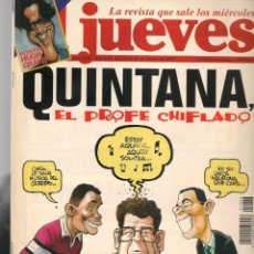 Coleccionismo de Revista El Jueves: EL JUEVES. Nº 1026. QUINTANA, EL PROFESOR CHIFLADO. POSTER: HUGH GRANT.(VIZCARRA). 22/1/1997 (P/B9). Lote 221475515