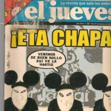 Coleccionismo de Revista El Jueves: EL JUEVES. Nº 1505. ¡ETA CHAPA!. POSTER: LOS 3 CSI.(VIZCARRA)- 29 MARZO 2006. (P/B9).. Lote 221478426