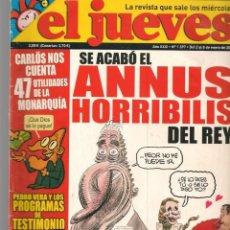 Coleccionismo de Revista El Jueves: EL JUEVES. Nº 1597. ANNUS HORRIBILIS. POSTER: JUAN CARLO I ¨EL CABREAO¨(VIZCARRA) 2 ENERO 08.(P/B9).. Lote 221478851