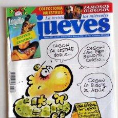 Coleccionismo de Revista El Jueves: REVISTA EL JUEVES Nº990 MAYO AÑO 1996 - PÓSTER LOQUILLO - ANTIGUO - FIN DE LA MILI.. Lote 221562597