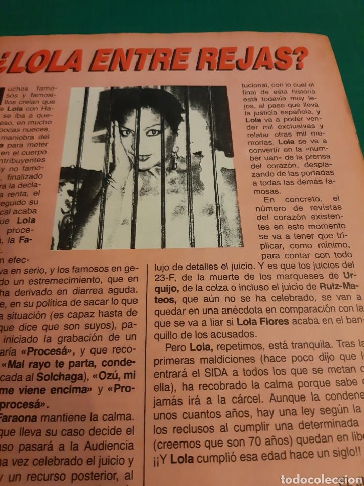Coleccionismo de Revista El Jueves: LOLA PROCESADA !!EL JUEVES 1987 NUMERADA 527 - Foto 2 - 221773498
