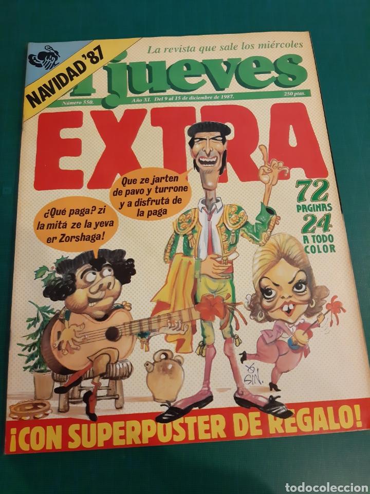 EL JUEVES EXTRA 1987 NUMERADA 550 NAVIDAD COLECCIONISMO COLISEVM (Coleccionismo - Revistas y Periódicos Modernos (a partir de 1.940) - Revista El Jueves)