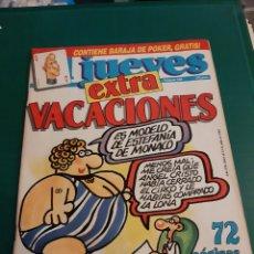 Coleccionismo de Revista El Jueves: EL JUEVES EXTRA VACACIONES NUMERADA 580 SIN BARAJA 1988 LIBRERIA O ALMACÉN DO COLISEVM LUGO. Lote 221775790