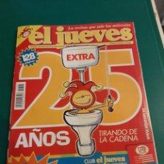 Coleccionismo de Revista El Jueves: EL JUEVES 1395 2002 REVISTA EXTRA 25 AÑOS LIBRERIA COLISEVM LUGO. Lote 221776740
