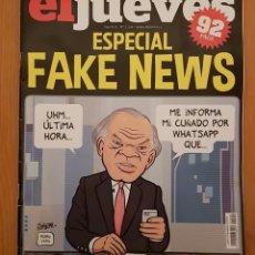 """Coleccionismo de Revista El Jueves: EL JUEVES N° 2.208 (ESPECIAL) """"FAKE NEWS"""". Lote 222280195"""