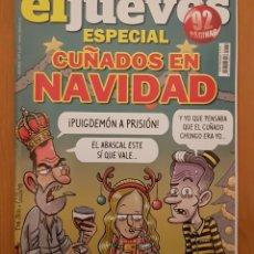 """Coleccionismo de Revista El Jueves: EL JUEVES N° 2.221 (ESPECIAL) """"CUÑADOS EN NAVIDAD"""". Lote 222280367"""