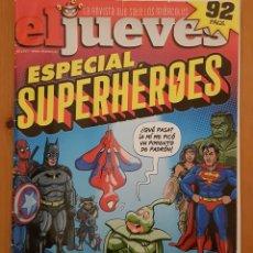 """Coleccionismo de Revista El Jueves: EL JUEVES N° 2.197 (ESPECIAL) """"SUPERHÉROES"""". Lote 222280568"""