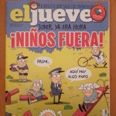 """Coleccionismo de Revista El Jueves: EL JUEVES N° 2.239 (ESPECIAL) """"NIÑOS FUERA"""". Lote 222280826"""