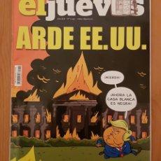 """Coleccionismo de Revista El Jueves: EL JUEVES N° 2.245 (ESPECIAL) """"ARDE EE.UU."""". Lote 222281431"""