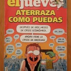 """Coleccionismo de Revista El Jueves: EL JUEVES N° 2.244 (ESPECIAL) """"ATERRAZA COMO PUEDAS"""". Lote 222281503"""