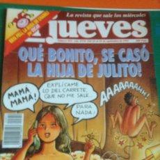 Coleccionismo de Revista El Jueves: EL JUEVES 852 22 AL 28 SEPTIEMBRE 1993 QUE BONITO SE CASÓ LA HIJA DE JULITO. POSTER CONVITE CHABELI. Lote 222785431